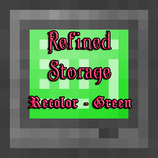 Refined Storage Recolor - Green скриншот 1