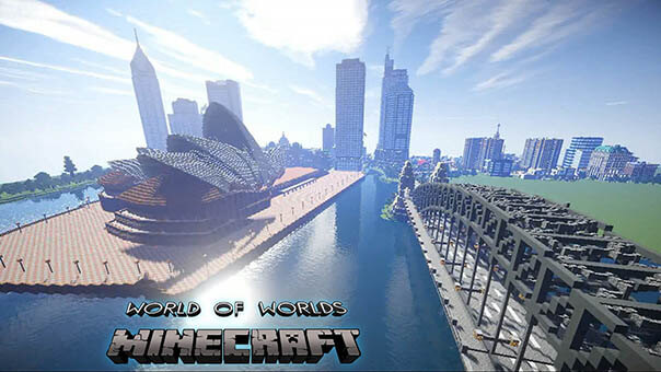 Minecraft - World of Worlds скриншот 2