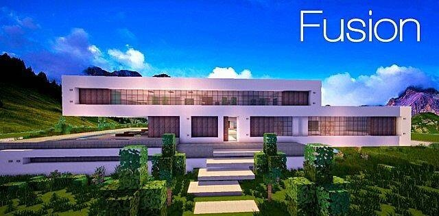 Fusion Modern House Huge Minecraft Map
