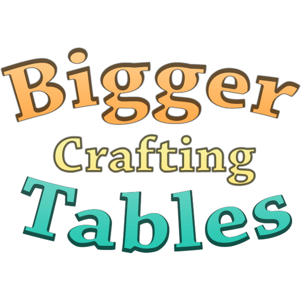 Bigger Crafting Tables скриншт 1