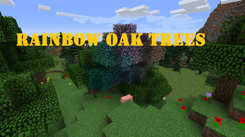 Rainbow Oak Trees скриншот 1