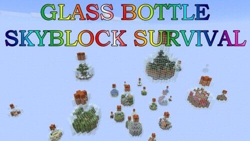 Карта Glass Bottle SkyBlock Survival скриншот 1