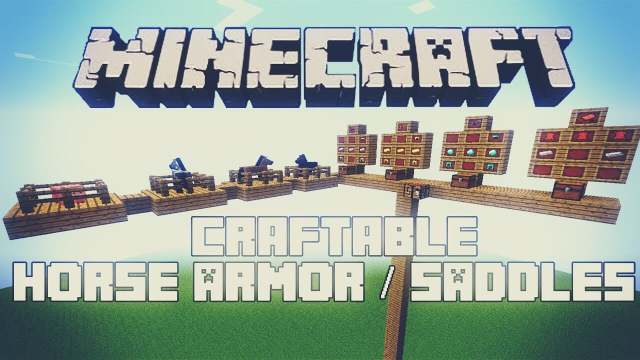 Craftable Horse Armour & Saddle for Minecraft 9.96