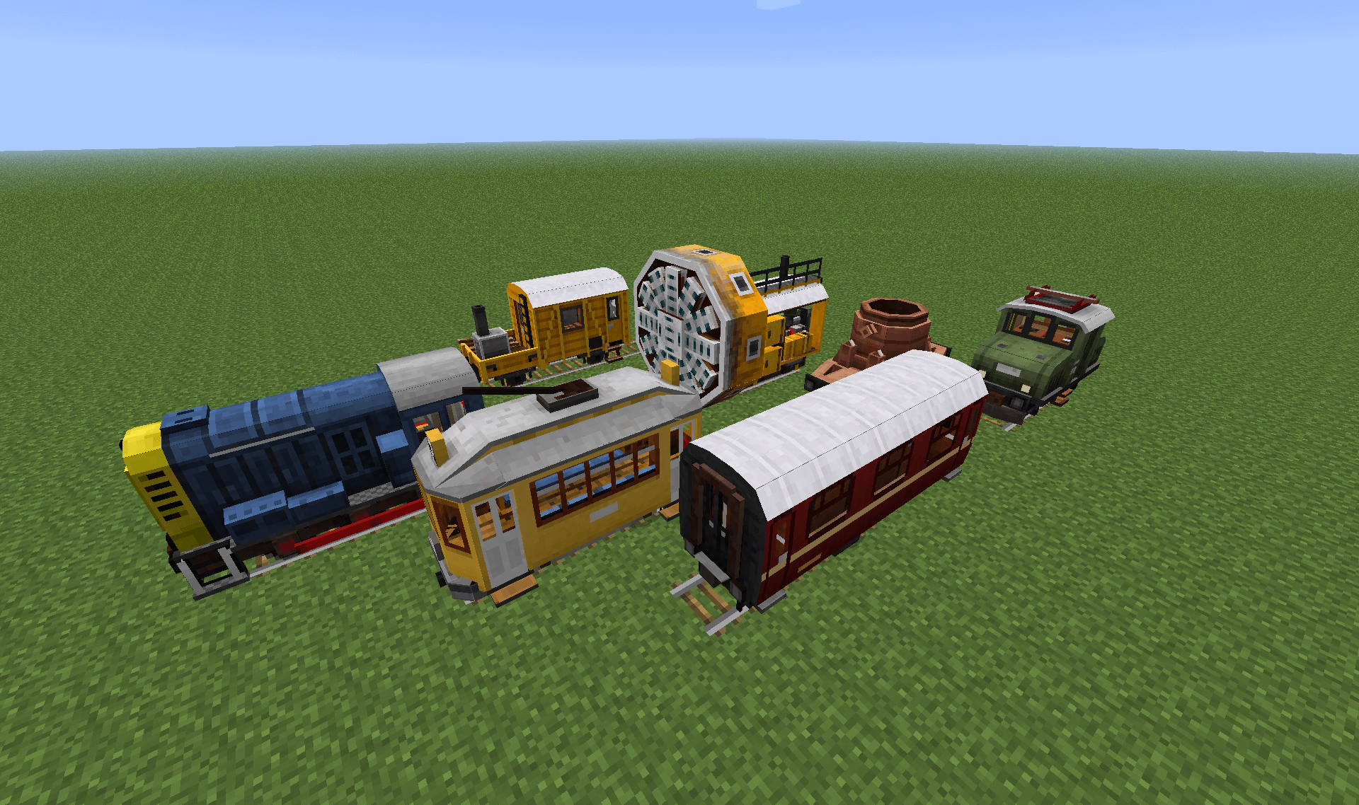 Traincraft mod for minecraft 1. 7. 10, 1. 7. 2 and 1. 6. 4.