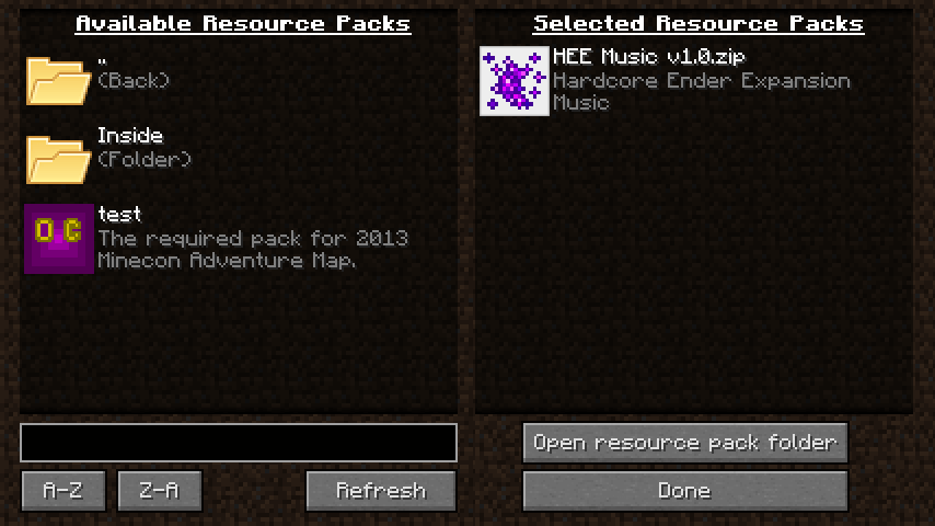 Resource Pack Organizer скриншот 2