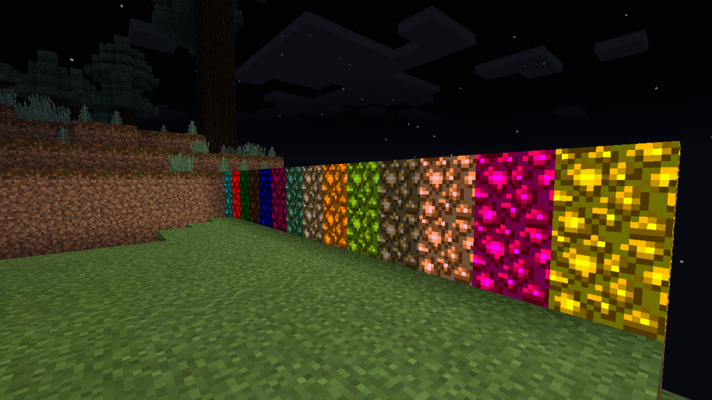 Все блоки из Colored Glowstone Mod