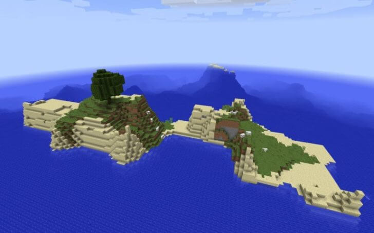 A small island and an underwater fortress nearby screenshot 1