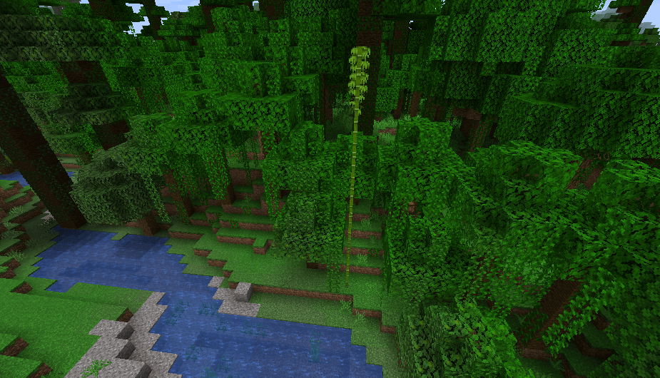 Bamboo in Minecraft 1.14
