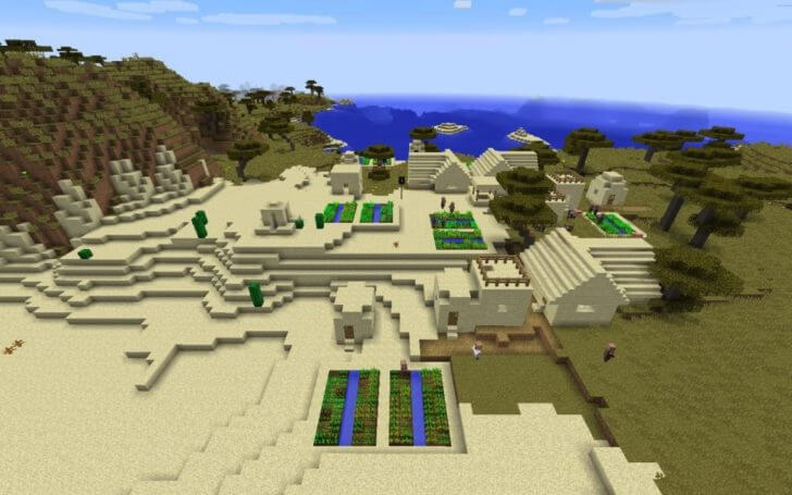 Village in the table Messa biome screenshot 1