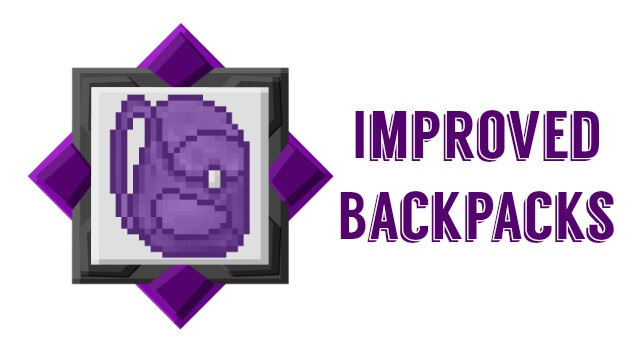 Improved Backpacks скриншот 1