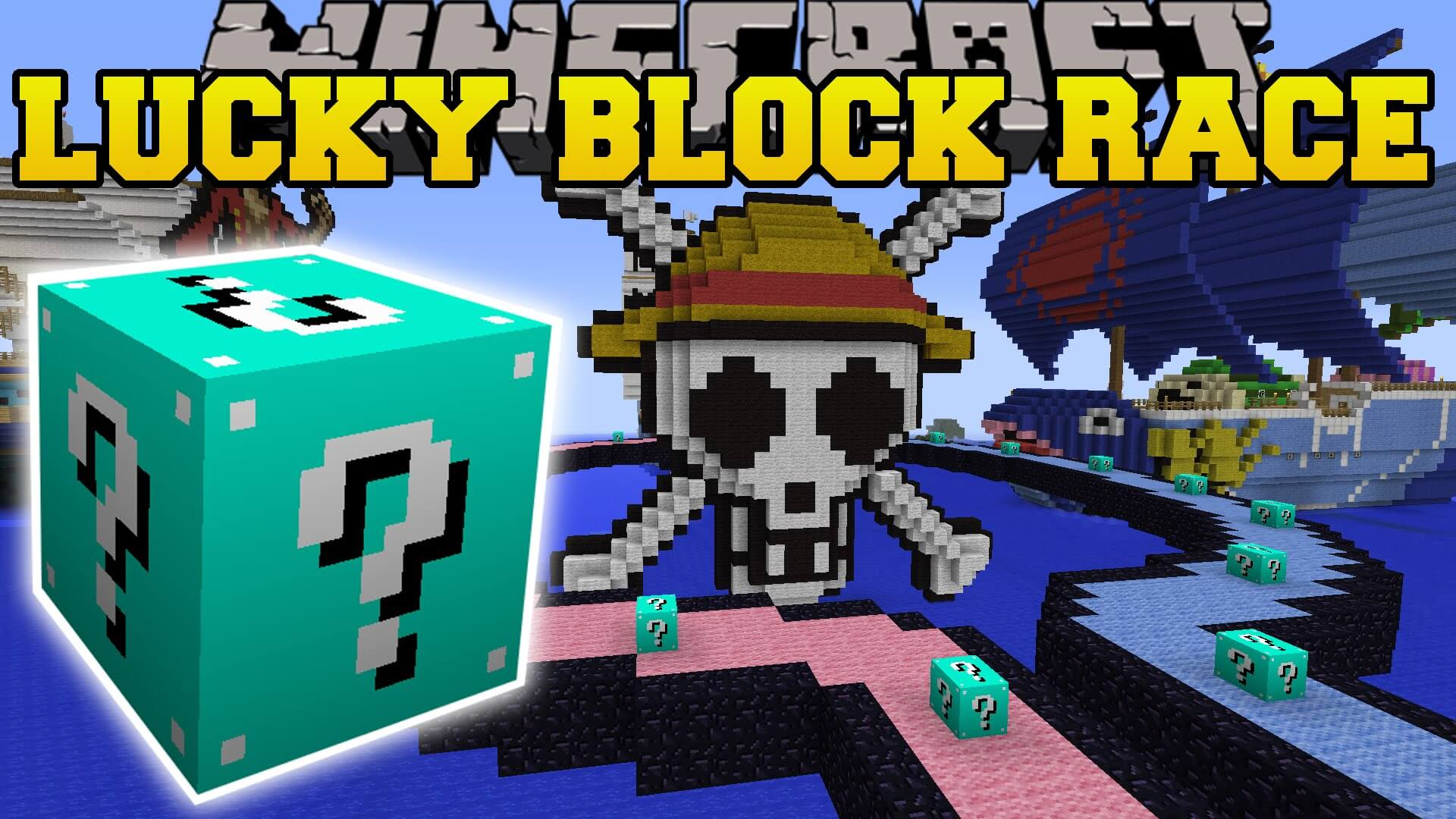 The Luckiest Block - Lucky Block Race скриншот 1