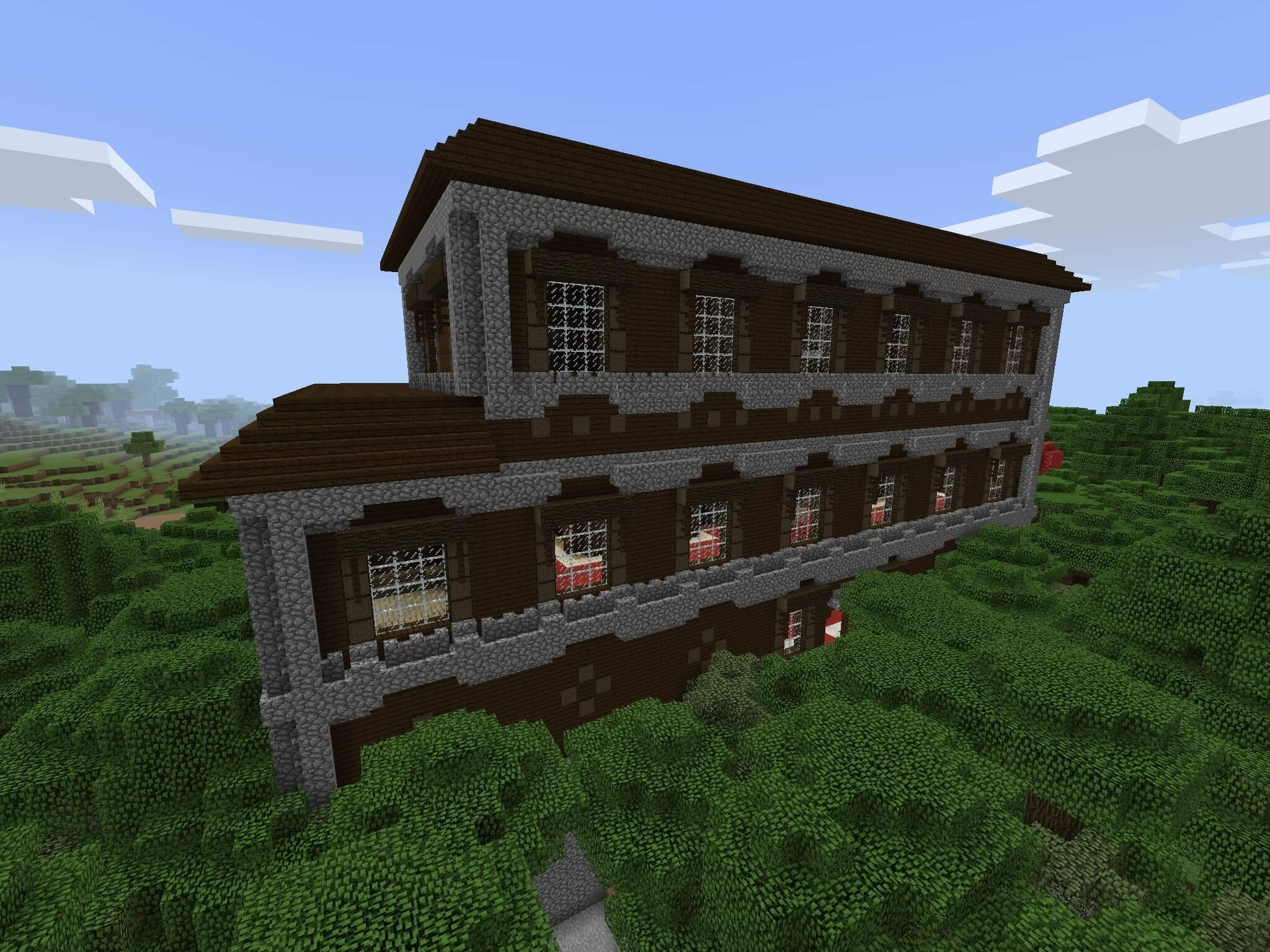 9 A Forest Mansion at the Spawn  Seed Minecraft PE