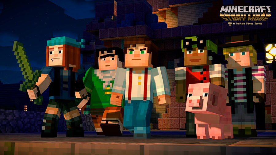 Лого Minecraft Story Mode Season 1