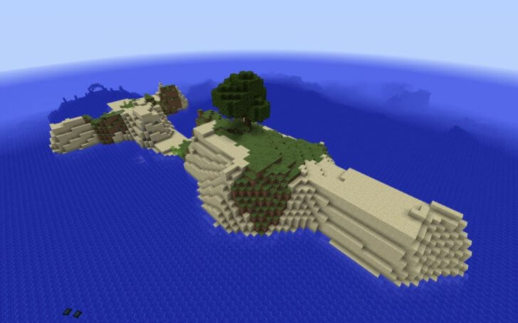 A small island and an underwater fortress nearby screenshot 2
