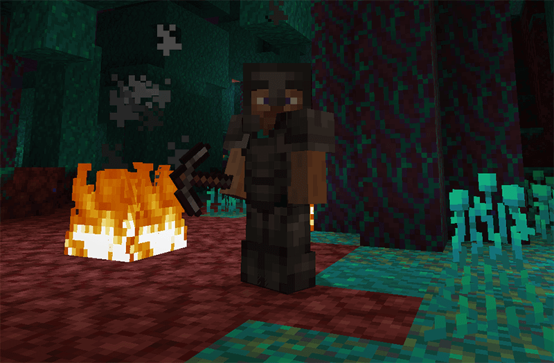 Netherite Armor in Minecraft 1.16