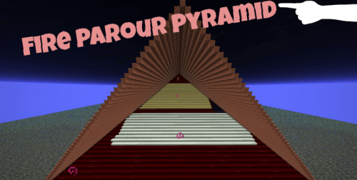 Карта Fire Parkour Pyramid скриншот 1
