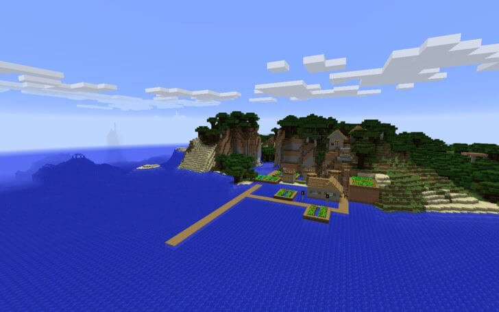 A village on the shore and an underwater fortress screenshot 1