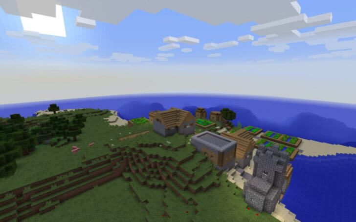 Village on the shore of the ocean screenshot 1