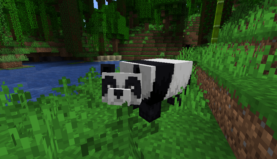 Panda in Minecraft 1.14 screenshot 1
