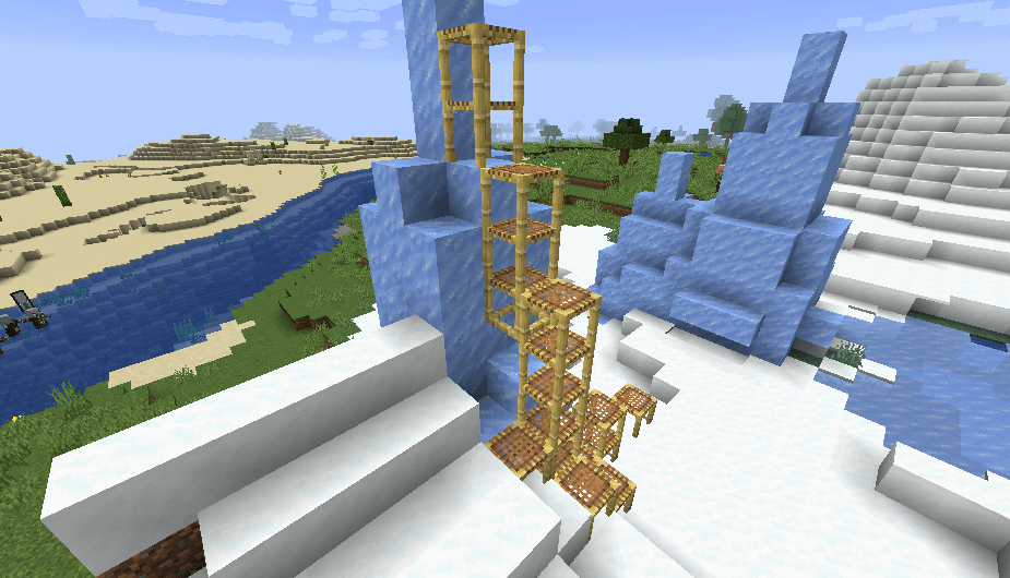 Scaffolding in Minecraft 1.14 screenshot 1