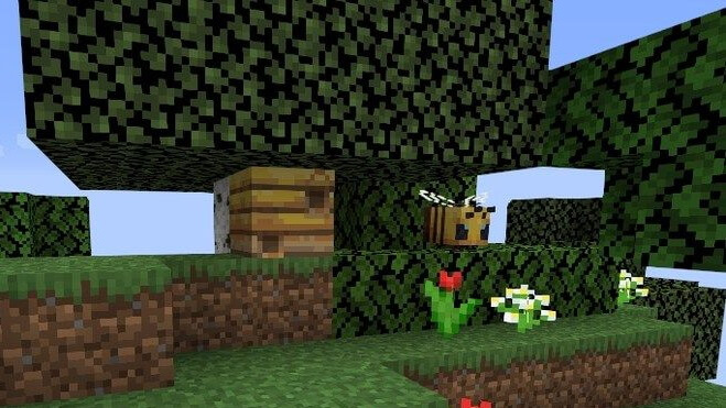 -1338158742301782207 A Clearing With Bees in a Dense Forest screenshot 2