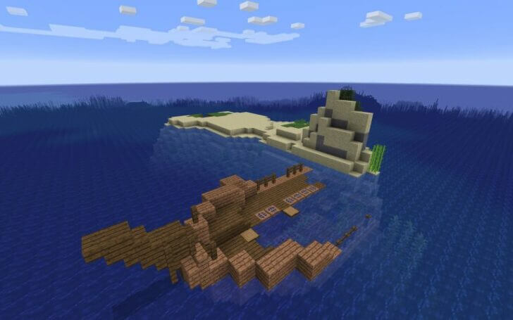 The wreckage of the ship near the Islands Screenshot 1