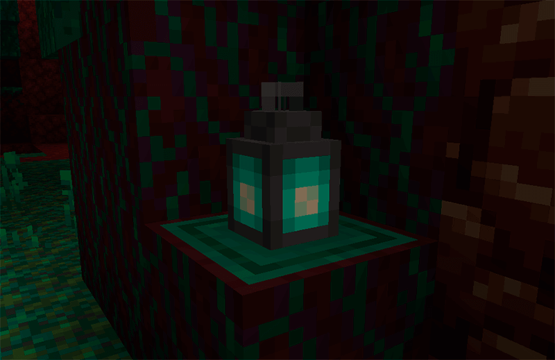Soul Fire Lantern in Minecraft 1.16