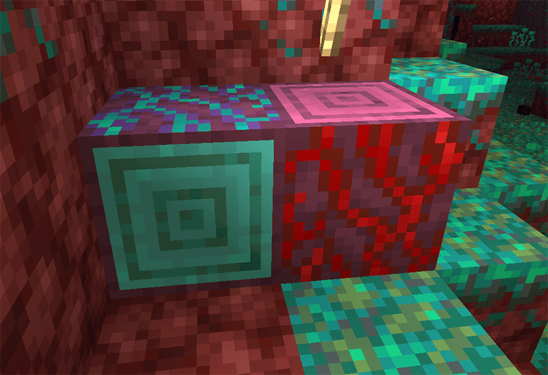 Crimson and Warped Stems in Minecraft 1.16