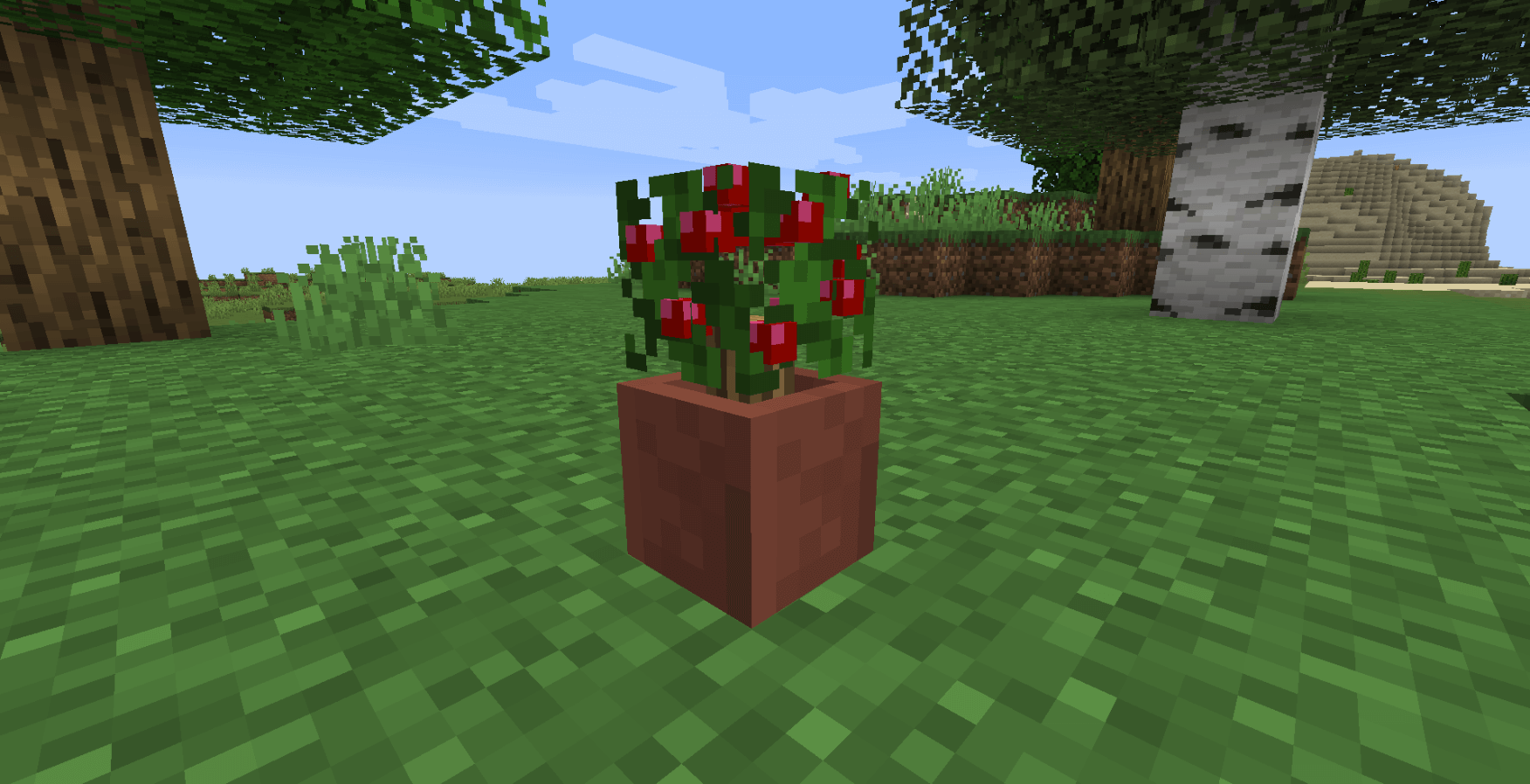 Potted Bushes 1.14.4 скриншот 1