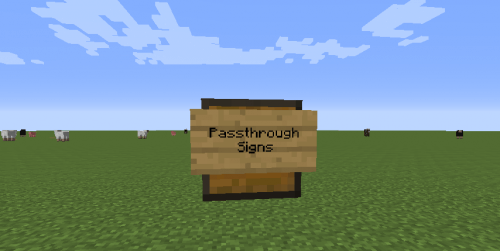 Passthrough Signs 1.14.3 скриншот 1