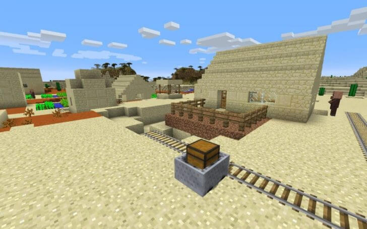 Village in the table Messa biome screenshot 3