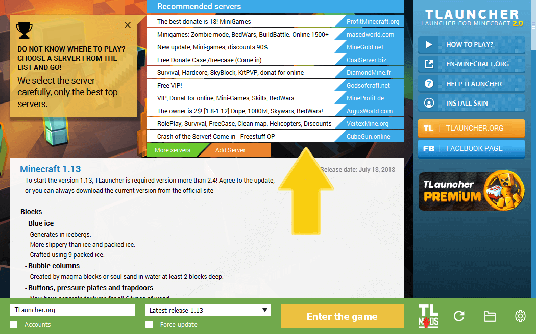 Advertising Minecraft Server In The Tlauncher