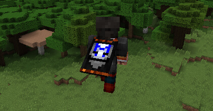 An example of a Cape in Minecraft