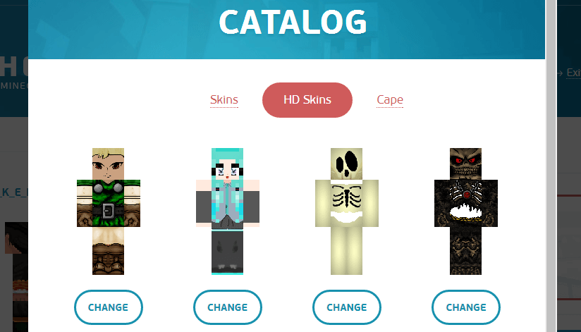 Catalog HD skins TLauncher