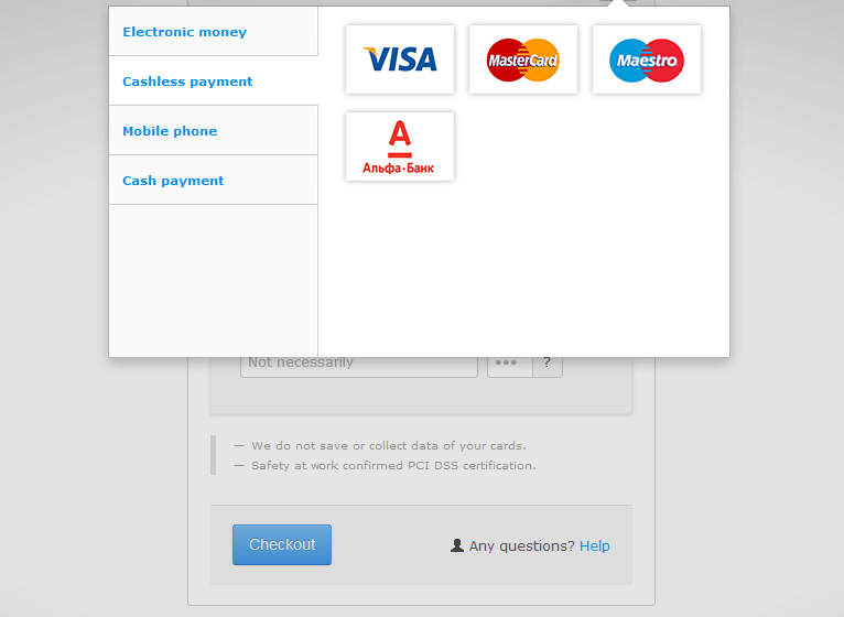 Payment in the payment system