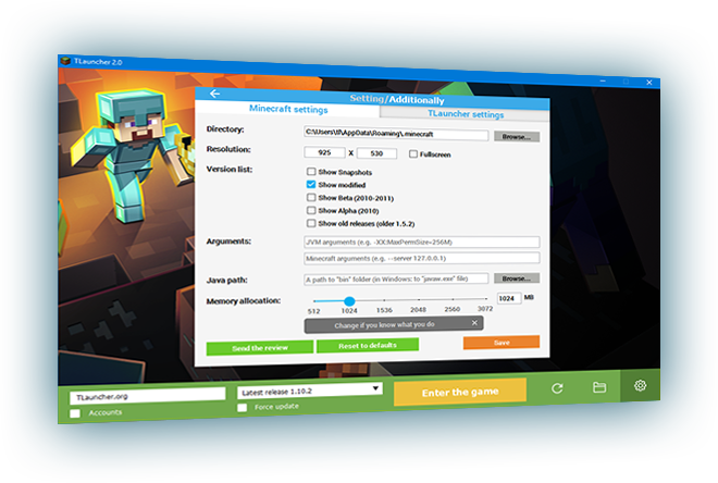 TLauncher – Download Minecraft Launcher